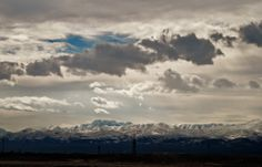 snow on the mountains in March 2013