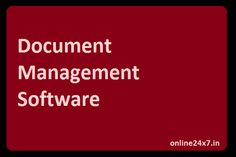 Document Management System helps to reduce the complexity and work burden of Human Resource Department by providing all information Paperless. Online24x7 provides Cloud Services by which you can save your online and it provides the ease to access all information anywhere anytime. It can be accessible by mobile devices, ipod, tablets and with every other device.
