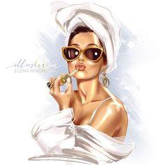 Makeup Illustration, Glamour Decor, Makeup Wallpapers, Fashion Wall Art, Digital Art Girl, Beauty Art, Fashion Sketches, Cartoon Art, Female Art