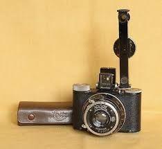 """Pupille Nagel équipé d'un télémètre Leitz """"FOFER"""". Ici l'étui en cuir du télémètre est estampé Leitz, mais il se trouve aussi avec la marque Nagel. Document : Photo Collection. Jean-Claude Boussat.."""