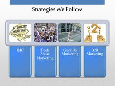 Strategies We Follow  IMC Trade  Show  Marketing  Guerilla  Marketing  B2B  Marketing Cafe Business Plan, Sample Business Plan, Business Planning, Executive Summary, Lychee Soda, Unique Selling Proposition, Inauguration Ceremony, Garden Coffee, Guerilla Marketing