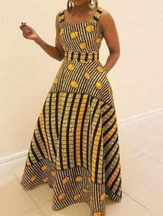 Patchwork Floor-Length Sleeveless Stripe Pullover Dress