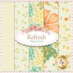 Refresh  5 FQ Set - Cloud Set by Sandy Gervais for Moda Fabrics