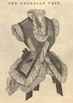 """The Georgian Vest""- Pattern. Peterson's July, 1875 -- pattern guide"