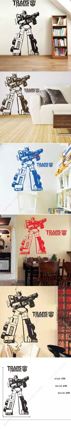Home Decor Cool Transformers Wall Stickers Wall Decals Optimus Prime Poster for kids rooms $10.99