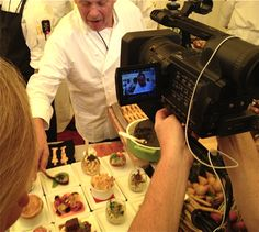 @WolfgangBuzz (Wolfgang) previews his 2012 Oscar governors ball food (via DeathbedFood)