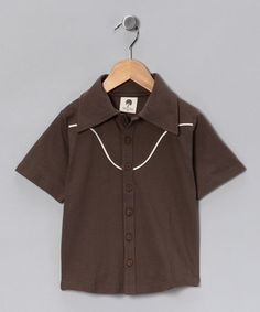 Take a look at this Charcoal Cowboy Organic Button-Up Shirt - Infant, Toddler & Boys by Kate Quinn Organics Boys on #zulily today!