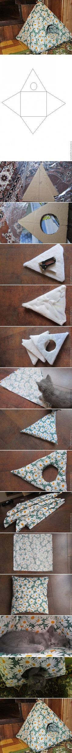 DIY House for Cat or small dog or make it small enough for any of your pet rodents. Love rats and all! <3