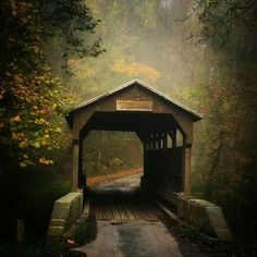 Covered Bridge in Greenbrier County, West Virginia by Crystal Adams Faulkiner