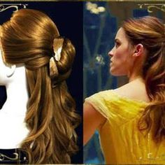 実写版「美女と野獣」ベルのハーフアップ 髪型の作り方 Disney Beauty And The Beast, Dreadlocks, Hair Styles, Jewelry, Fashion, Hair Plait Styles, Moda, Jewlery, Jewerly