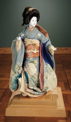 """""""For the Love of the Ladies"""" - October 1-2, 2016 in Phoenix, AZ: 271 Japanese Carved Wooden Fashionable Lady with Elaborate Costume"""