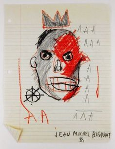 Four pencil sketches from Jean-Michel Basquiat will lead among entry-level works from Warhol, Chagall and Miro on September 5 in Dallas. Jean Basquiat, Jean Michel Basquiat Art, Robert Rauschenberg, Andy Warhol, Cy Twombly, Keith Haring, Nouveau Realisme, Pablo Picasso, Radiant Child
