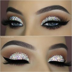 Tutorial on this Crystal Swarovski look is now on my  YouTube Channel(Link in bi