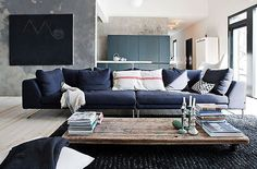 The home of Finnish designer Ulla Koskinen Photoby Morten Holtum   via Style and Create