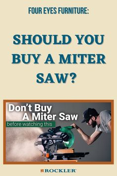 Chris Salomone and Shaun Boyd don't have a miter saw in their combined shop--they don't need one! Watch their video here to decide whether a miter saw is a good addition to your shop. #createwithconfidence #foureyesfurniture #mitersaw #shopupgrade #powertools Woodworking Projects Diy, Woodworking Videos, Woodworking Shop, Mitre Saw Stand, Workshop Organization, Shop Up, Miter Saw, Power Tools, Frugal