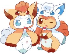 Vulpix and alolan vulpix Solgaleo Pokemon, Ninetales Pokemon, Alolan Vulpix, Pokemon Comics, Pokemon Memes, Pokemon Fan Art, Pokemon Fusion, Cute Animal Drawings, Cute Drawings