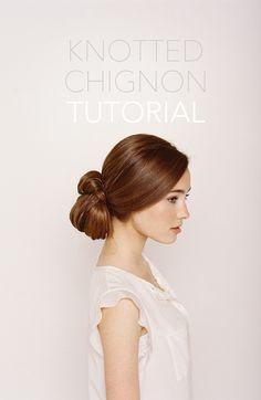 A simple chignon updo