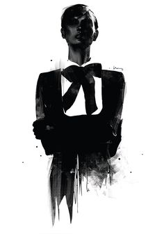 Fashion abstract illustration by Floyd Grey #illustration #smoking