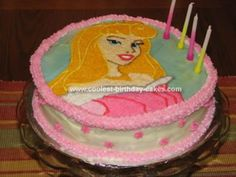 Homemade Sleeping Beauty Cake: I am just a novice at cake decorating, so when my daughter asked me for a Sleeping Beauty cake for her 4th birthday, I was a little worried.  I wanted