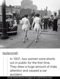 Wow! I wonder what will be considered the norm 100 years from now...there's not a lot more fabric that can be taken off! I mean we went from ankle dresses to pants to shorts... What will soon be acceptable in public??