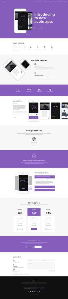 Acele is a creative clear and modern PSD template for #software #app #website download now➝ https://themeforest.net/item/acele-app-landing-psd-template/16832087?ref=Datasata