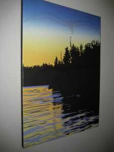 "Roy Vickers ""King Pacific Sunset"" open print giclee'd on canvas. Free Ads, Canadian Artists, Giclee Print, Sunset, World, Water, Painting, Inspiration, Flowers"