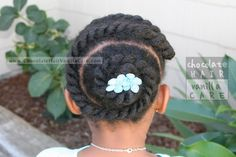 Quick and Easy Spiral Flat Twists #NaturalHair #Hairstyle | Chocolate Hair / Vanilla Care
