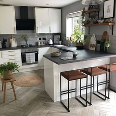 24 Modern Farmhouse Kitchen Designs For You Dream Home 24 modern. 24 Modern Farmhouse Kitchen Designs For You Dream Home 24 modern farmhouse kitchen Kitchen Room Design, Modern Kitchen Design, Kitchen Layout, Home Decor Kitchen, Interior Design Living Room, Kitchen Designs, Small Home Interior Design, Kitchen Ideas, Kitchen Contemporary