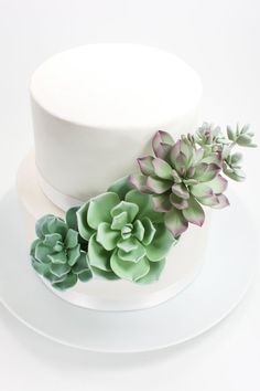 Succulent Wedding Cake Topper Gumpaste Succulent by lilsculpture