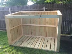 Build you own trash can storage shed! This tutorial covers all of the information to get you going and offers a set of plans to complete your own build. Trash Can Storage Outdoor, Outdoor Trash Cans, Outside Storage, Backyard Storage Sheds, Building A Storage Shed, Storage Shed Plans, Pallet Storage, Storage Ideas, Garbage Can Shed