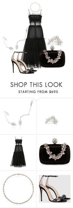 """""""Soledad"""" by ceciliecoelho ❤ liked on Polyvore featuring Yeprem, Rodarte, Roger Vivier, Fred Leighton and Gucci"""