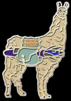 Llama Phish pin