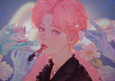 Jimin Fanart, Yoonmin Fanart, Kpop Fanart, Kpop Drawings, Estilo Anime, Bts Chibi, Fanarts Anime, Jikook, Aesthetic Art