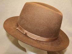 Vintage Brown L. L. Bean Fedora Trilby Homburg Dress Hat Lightweight Felt  Made in England Size Meduim 94848dae2036
