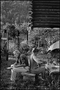 Henri Cartier-Bresson - 1966. Swiss painter, Willy VARLIN, and his wife.
