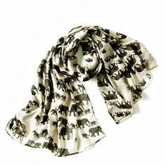 """WARM ME UP IN KENYA by Penelope Ann  > Our fun family of elephants parading will add an exotic flare to your outfit. Polyester. 36 x 72"""""""