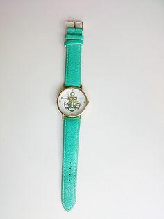 Zegarek kotwica styl marynarski- na prezent - barbarella-br - Zegarki na rękę