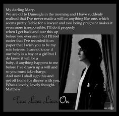 Downton Abbey Season 4:  Letter from Matthew to Mary