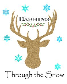 Charm Bracelet Diva {at Home}: Dashing Through the Snow Reindeer Printable