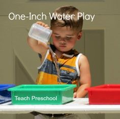 One Inch Water Play by Teach Preschool - Pinned by – Please Visit for all our pediatric therapy pins Water Games For Kids, Indoor Activities For Kids, Sensory Activities, Sensory Play, Educational Activities, Learning Activities, Preschool Activities, Teach Preschool, Sensory Table