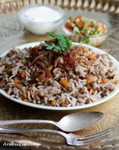 Arabic Zeal: Mujaddara, Lentils and Rice-- Dish my co-worker brought to work which sounded DELISH. Definitely going to attempt to make this!