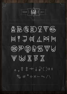 RUNUR font by Yan Kittsel, via Behance
