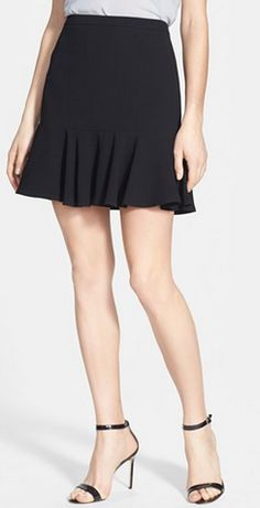 Cute ruffle skirt + strappy heels @Nordstrom