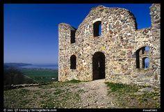 Ruins of the 16th-century castle Brahehus near Granna. Gotaland, Sweden