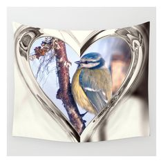 Blue Tit Wall Tapestry ($39) ❤ liked on Polyvore