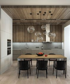 Wood Panel Kitchen