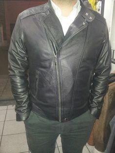 chaqueta hombre cuero