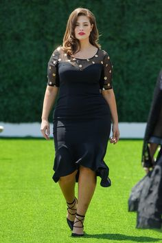 Model and activist Ashley Graham walks in the Christian Siriano for Lane Bryant fashion show.