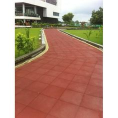 Rubber Tiles, Rubber Flooring, Tile Floor, Sidewalk, Exterior, Sport, Google Search, Red Flats, Deporte