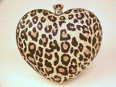 Leopard Heart Clutch. ❤